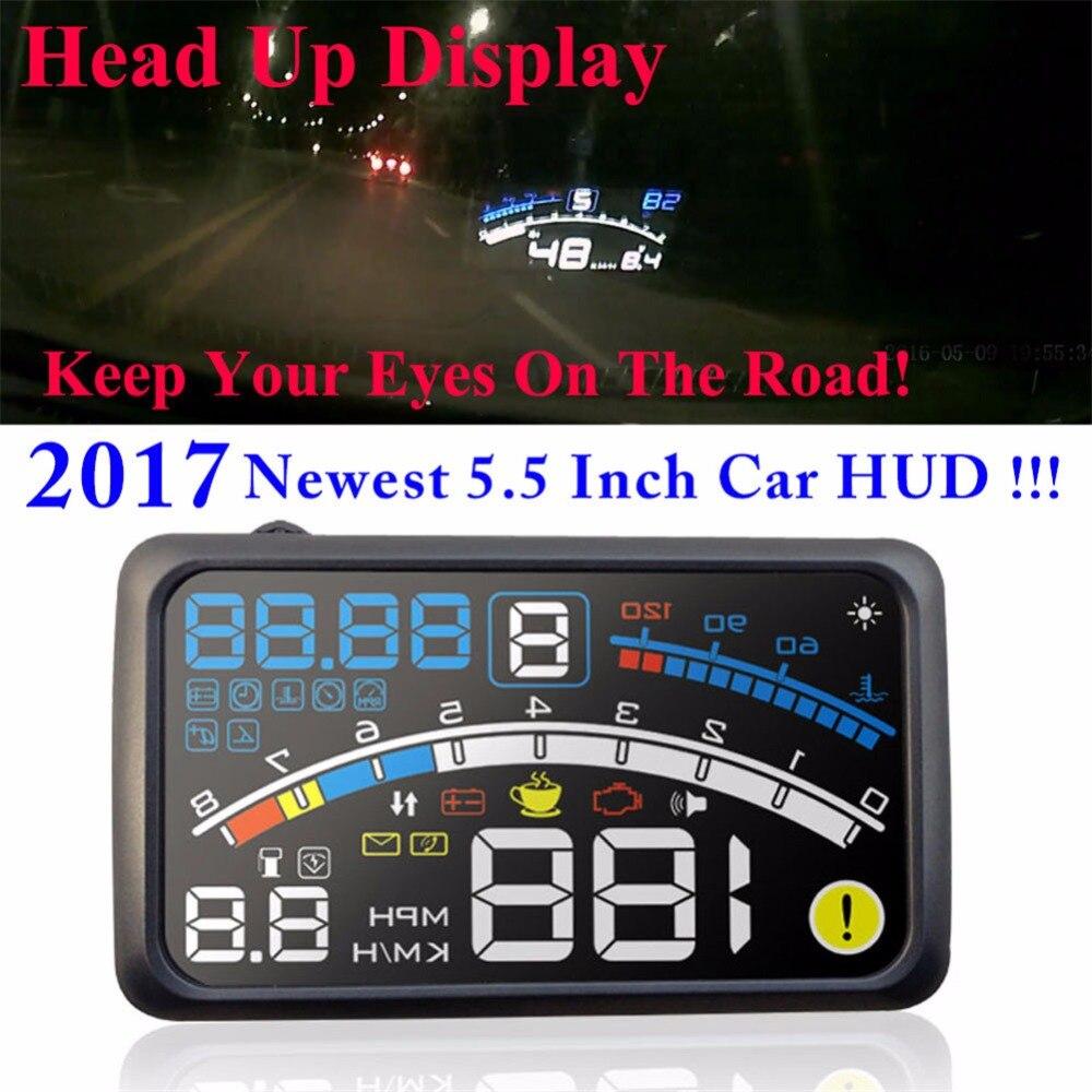 Aliexpress com buy new 4e auto 5 5 hud head up display windscreen projector obd ii car data diagnosis defender range discovery freelander evoque from