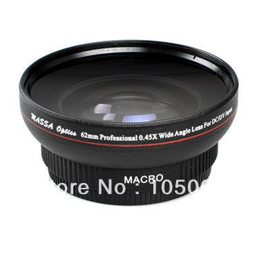 62mm 0.45X Wide Angle Macro Conversion Lens for nikon canon pentax sony DV DSLR camera 52mm 0 21x fixed fisheye wide angle lens with removable hood for canon nikon sony dslr camera