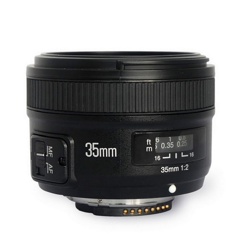 Original <font><b>YONGNUO</b></font> YN <font><b>35mm</b></font> Camera Lens F2 Lens 1:2 AF / MF Wide-Angle Fixed / Prime Auto Focus Lens For <font><b>Nikon</b></font> 7000 D5100 D5000 image