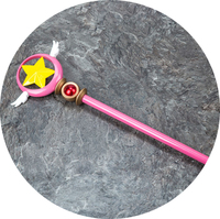 Anime Cardcaptor Sakura KINOMOTO SAKURA Star Wing The magic wand staff weapon Cosplay props Cosplay Accessory