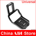 Digital DSLR camera universal adjustable L-plate with grip mount tripod head quick release plate 5d 6d d300 d7000 (GLA-01)