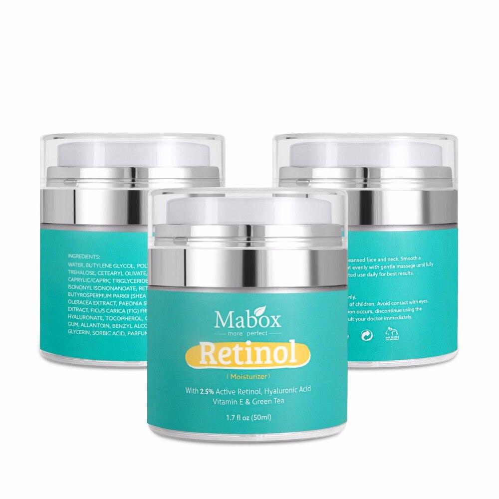 Soro anti-envelhecimento do ácido hialurónico da acne das rugas do colagénio da vitamina e do creme de cara do retinol de mabox