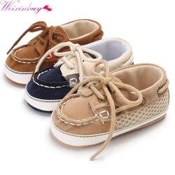 Quente! primavera bebê menino sapatos casuais laço-up t-amarrado cor sólida sapatos casuais da criança não-deslizamento macio inferior sapatos quentes
