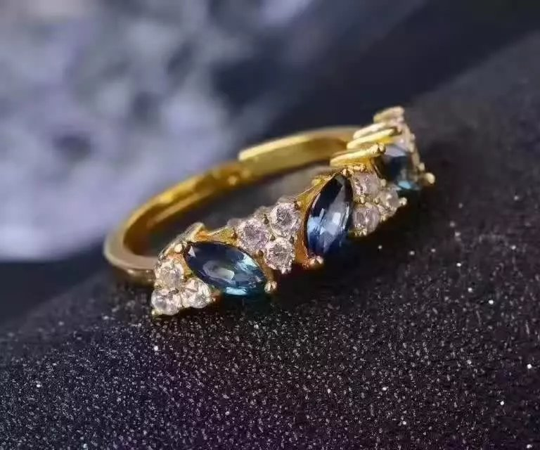 LANZYO 925 sterling silver Sapphire rings fashion gift for women jewelry rings fine jewelry Super low price j030507agl