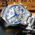 Suíça BINGER relógios homens marca de luxo Turbilhão de safira luminosa múltiplas funções de Pulso Mecânicos B8602-2