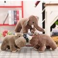 25*20 см имитация слона/бегемота/носорога, плюшевые игрушки, куклы с животными, мягкие хлопковые детские игрушки, подарок для детей