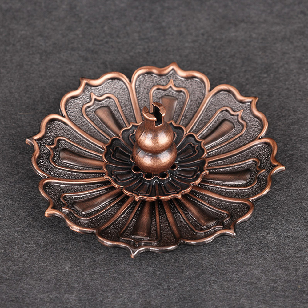 Gift Exquisite Craft 9 Holes Censer Plate Alloy Shape Decorations Practical Incense Stick Holder Fragrance Accessories