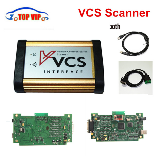 New Price Quality A+ auto Vehicle Communication Scanner VCS Bluetooth Interface Better than TCS pro Englsih/Russian/Spanish/French