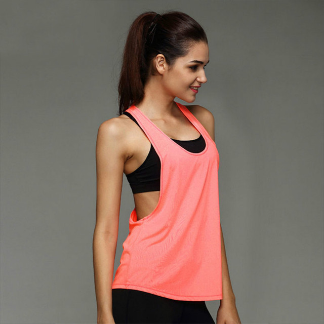 fd4af14a0cc Women s T shirt Sports Apparel Fitness Clothing Sport Suit Yoga Top  Sleeveless Vest Running Clothes Women Yoga Quick Drying Tops-in Yoga Shirts  from Sports ...