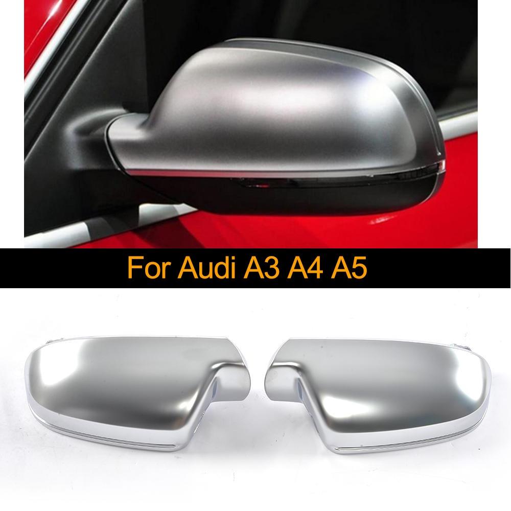Capuchon de couverture de rétroviseur latéral de voiture en Chrome ABS pour Audi A3 11-13 A4 13-16 A5 10-17 capuchon de Protection de coque de miroir style de voiture