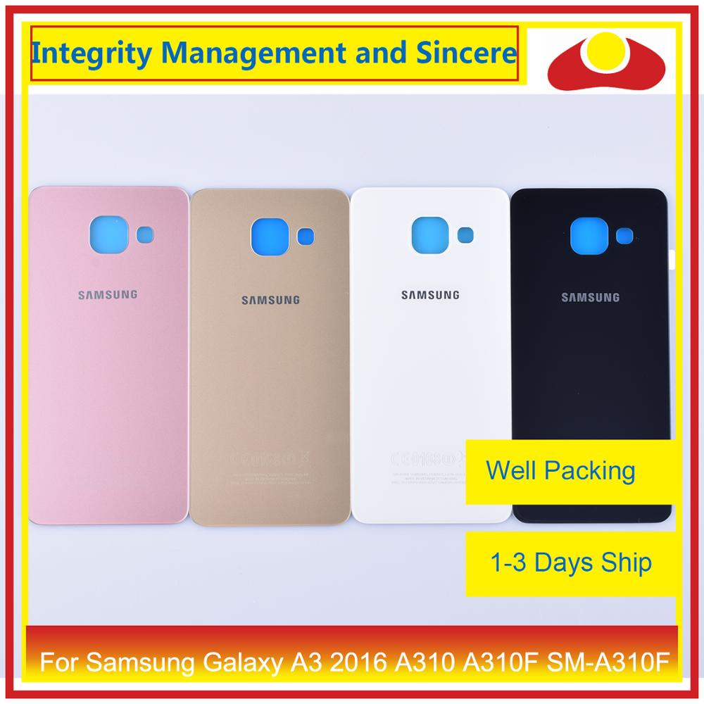50Pcs/lot For Samsung Galaxy A3 2016 A310 A310F SM A310F A310H Housing Battery Door Rear Back Cover Case Chassis Shell-in Mobile Phone Housings & Frames from Cellphones & Telecommunications