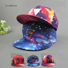 Adults Amazing Space Star 3Style Adjustable Casual Baseball Caps 2017 Hip-hop Fashion Hats &