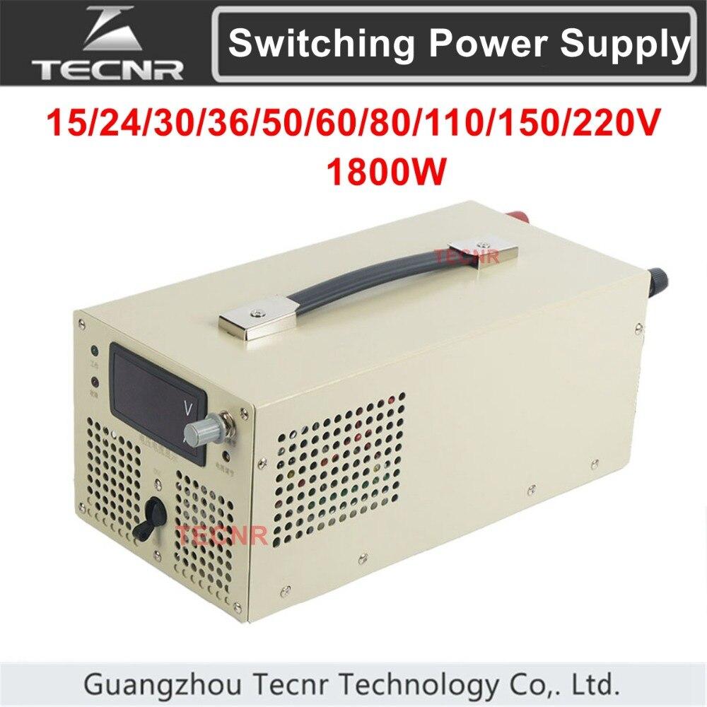 TECNR ajustable transformateur d'alimentation à découpage DC 15 V 24 V 30 V 36 V 48 V 50 V 60 V 80 V 110 V 150 V 220 V 1800 W tension constante