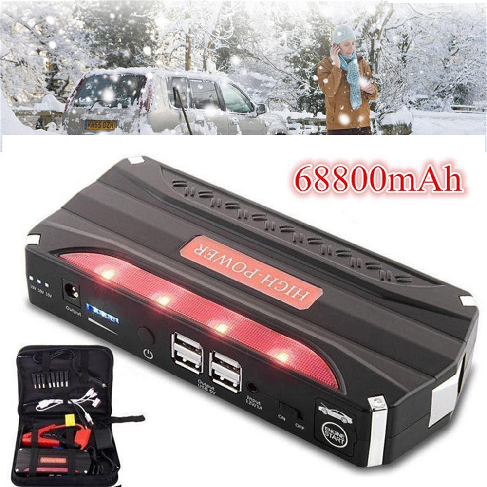 Vehemo 68800 mAh Dispositif de Démarrage Booster Portable Voiture Jump Starter batterie externe chargeur de batterie De Démarrage De Voiture pour la voiture Et sac de rangement