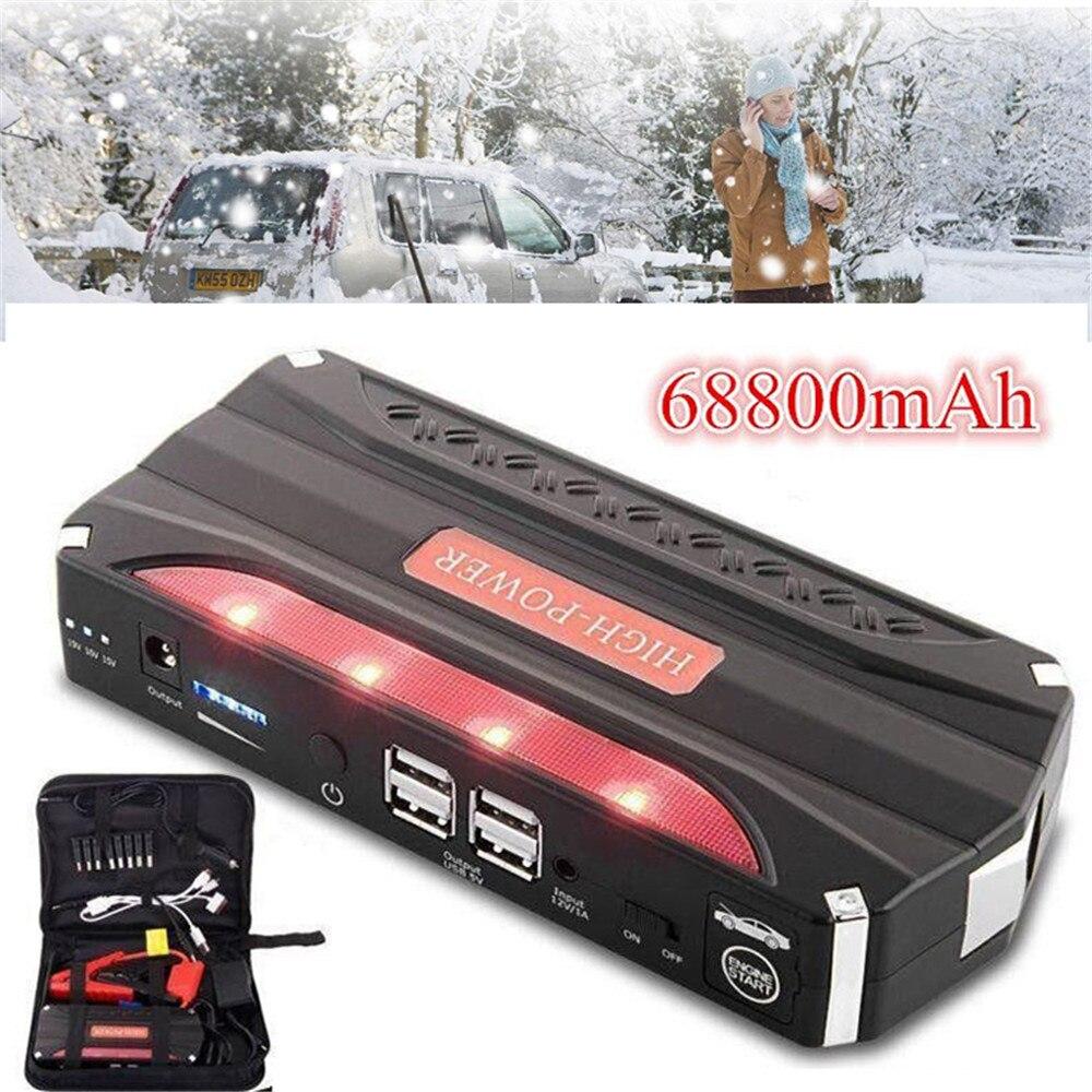 Vehemo 68800 mAh dispositif de démarrage Booster voiture Portable démarreur batterie externe démarreur de voiture pour chargeur de batterie de voiture et sac de stockage