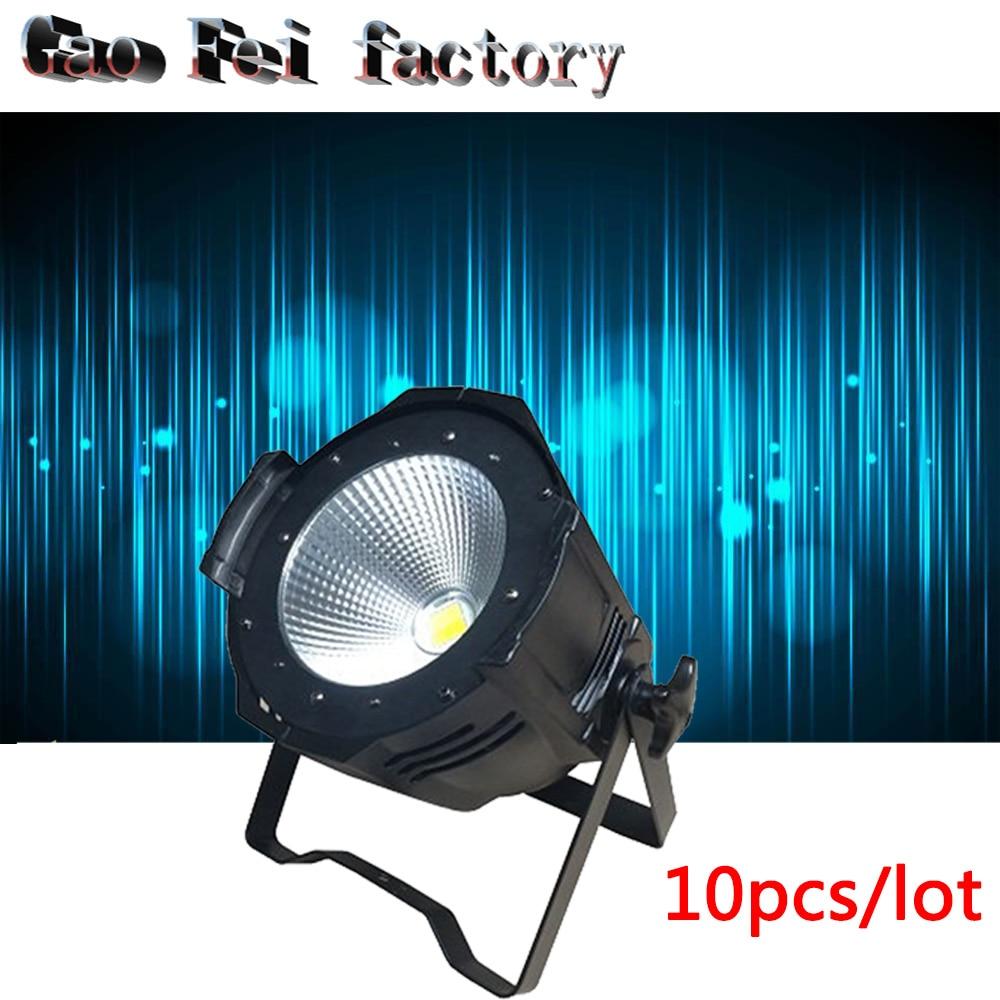10 pcs/lot 100W dmx led cob par light 2in1 COB LED Par LED wash light stage DMX lighting for sale led lights for parties накладной светильник sonex iris 1230 a