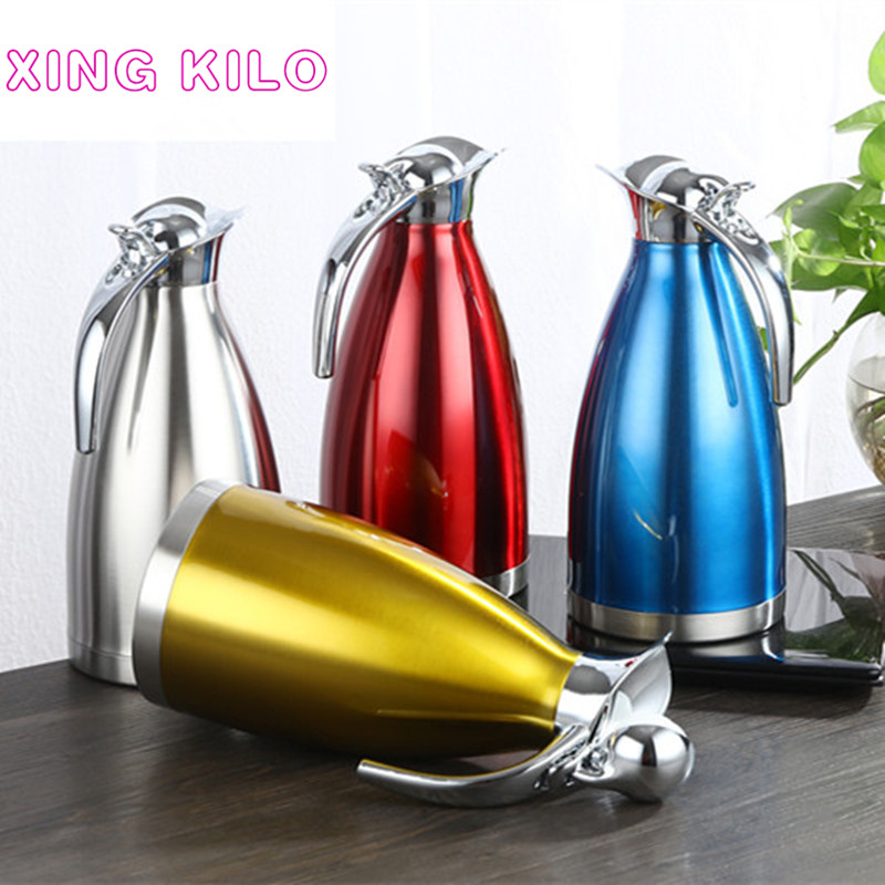 XING KILO 2L304 stainless steel insulation pot thermos thermos insulated kettle continental warm water bottle home