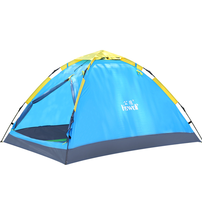 Hewolf 2 Person Single layer 3 season Tent Quick automatic open 200*150*110 cm Outdoor travel family drive Camping hiking tent outdoor double layer 10 14 persons camping holiday arbor tent sun canopy canopy tent