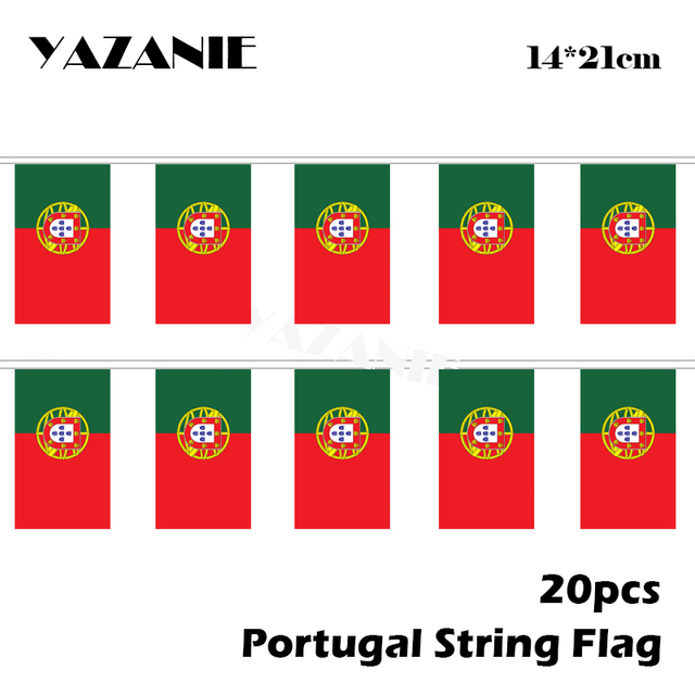 US $3 97 20% OFF|YAZANIE 14*21cm 20PCS Portugal String Flag Small  Portuguese Polyester National Flags for Decorative Custom Flags and  Banners-in
