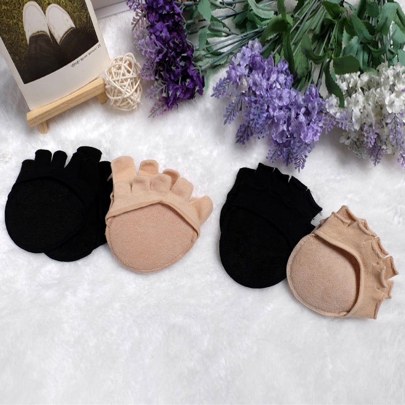 Fashion Style 2 Pairs/lot New Fashion Invisible Non Slip Toe Socks Half Grip Heel Five Finger Socks For High-heeled Shoes No Show Sox Bac277 Exquisite Craftsmanship; Sock Slippers