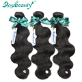 3 Bundles Indian Virgin Hair Body Wave Unprocessed Human Hair Weaves Rosa Hair Products Shipping Free