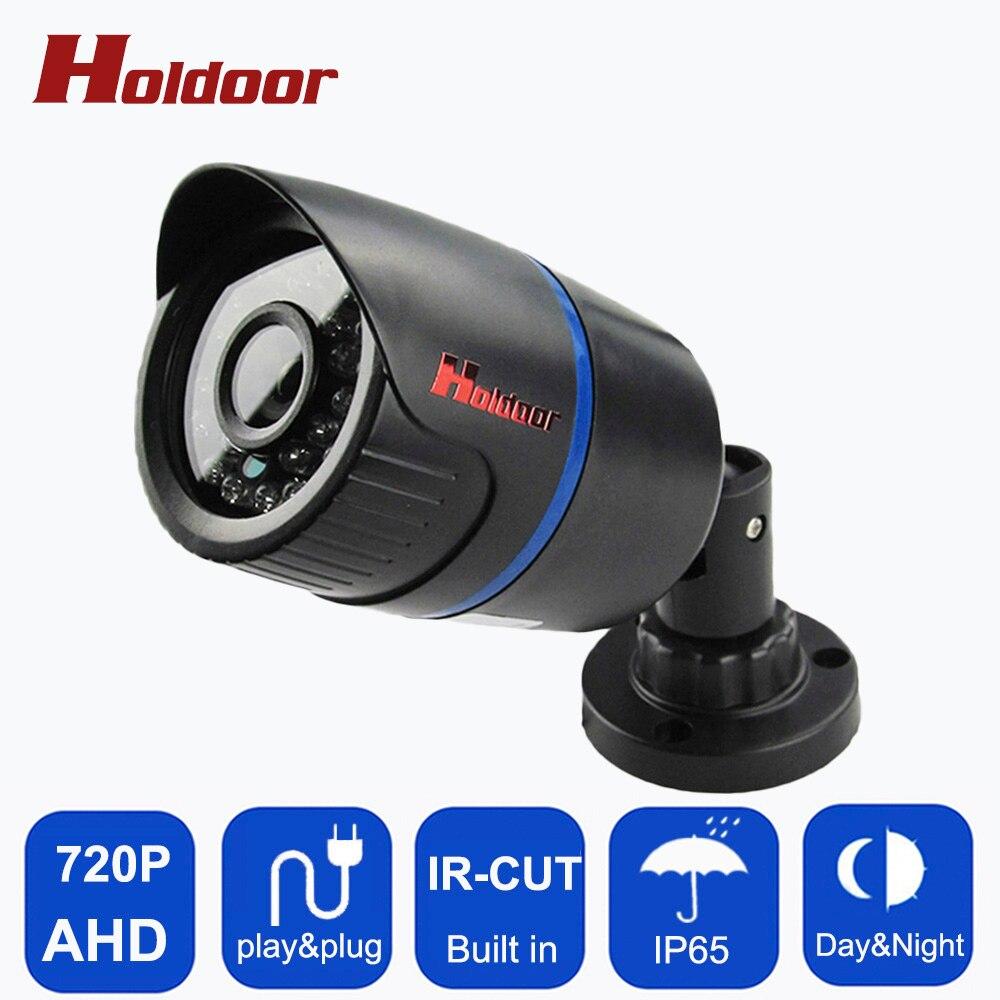 HD AHD 720P 1.0MP Bullet Camera CCTV Indoor IP65 Waterproof Bullet Security 24 IR Night Vision Brack for Security camera System