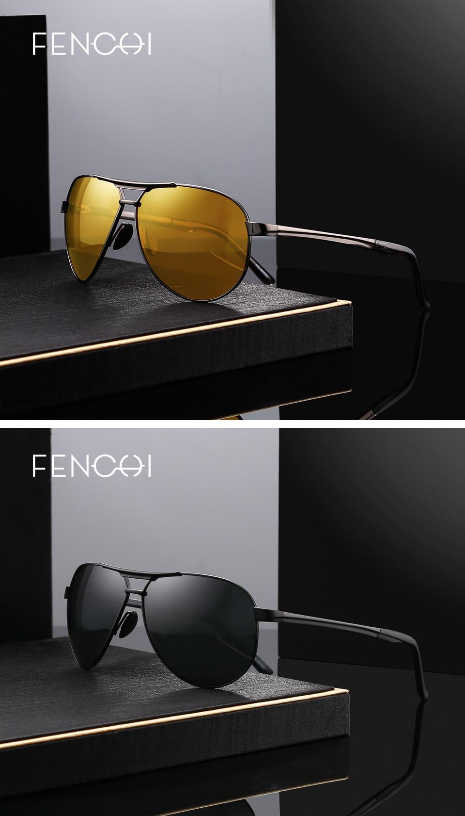 f337a81bb7 FENCHI Aviator Polarized Sunglasses Men Women Brand Designer Fashion ...