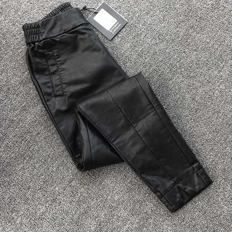 a65cfd682a87 Korean version of the nine points pants harem pants plus velvet wear slit  open loose thin