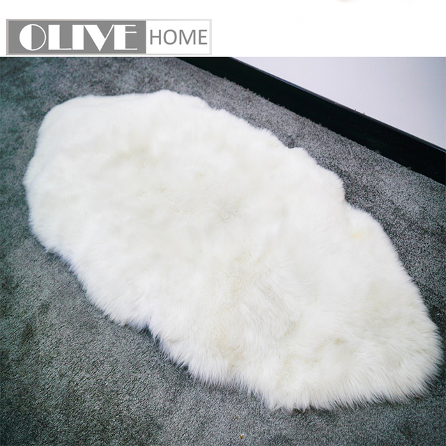 Battilo Fluffy Faux Fur Sheepskin Rug Chair Cover Seat Pad Home Carpet  Floor Mat For Bedroom