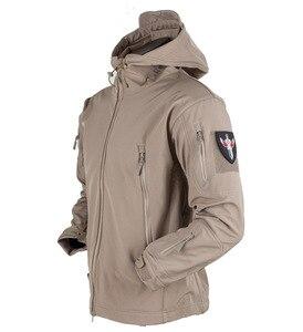 Image 5 - כריש עור צבאי Windproof טקטי Softshell מעיל גברים עמיד למים צבא קליפה רכה מעיל רוח גשם טיולים מעיל