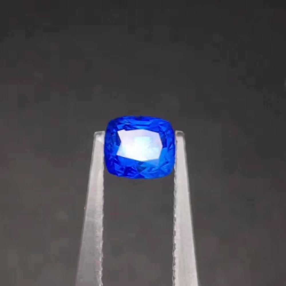 AIGS certification 1.59ct Natural Heat Nature Cornflower Blue Sapphire Stone Loose Gemstones Loose Gems Stones natural sapphire gemstone loose stone from chinese biggest sapphire mine dark blue natural sapphire loose gemstone