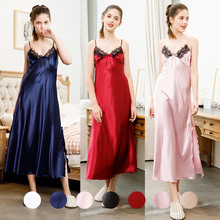 Women Silk Sleeping Dress Night Sleepwear Sexy For 990