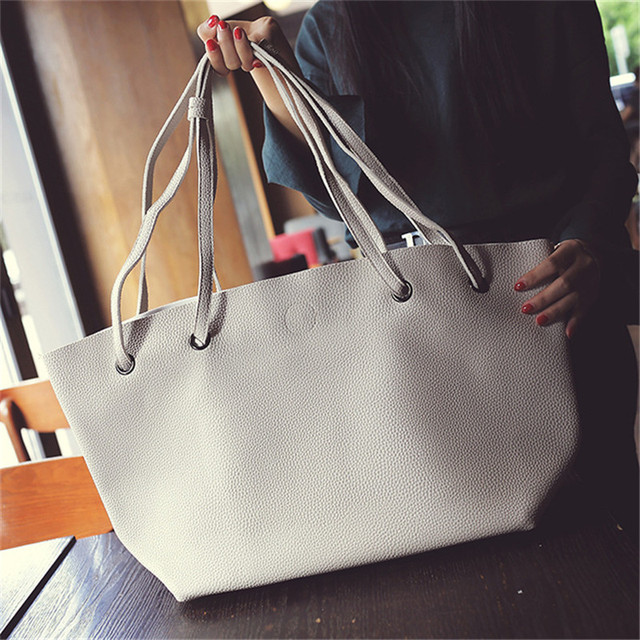 e82cd163d1 PACGOTH 2017 New Trendy Japanese and Korean Style All-Match PU Leather Shoulder  Bags Women s Personality Simple Fashion Handbag