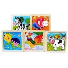 Crianças brinquedos dos desenhos animados adorável animal/veículo/fazenda/oceano quebra-cabeça brinquedo de madeira pré-escolar aprendizagem educacional precoce para crianças