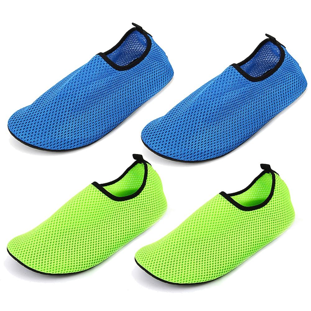 1 pair Men and Women Water Shoes Nylon + Neoprene Mesh Aqua Socks Yoga Exercise Pool Beach Dance Swim Slip Surf 2 Colors Shoes