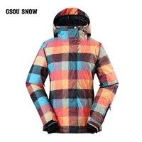 Gsou Snow18 Brand winter ski suit For women ski jacket Waterproof snowboard Set outdoor Ski sport Snowboarding suit sports coat