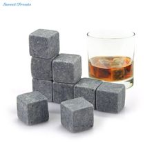 Whiskey Stones Reusable Ice Stone Chilling Rocks Cubes in Gift Box with Carrying Pouch Set of 9 for Whiskey Bourbon
