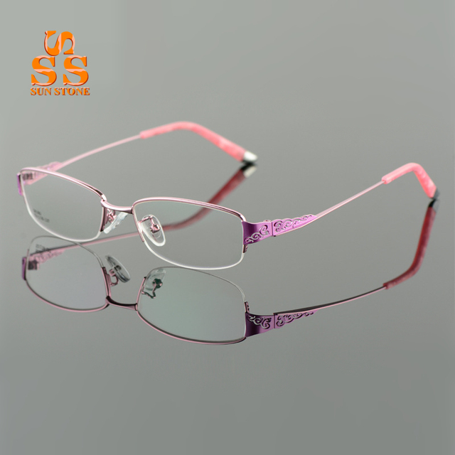 Brand Designer High-end Ultralight Titanium Alloy Glasses Frame Women Fashion No Diopter Optics Eyewear Frames Prescription F105