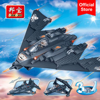 BanBao 3 in 1 Building Blocks Military Fighter Eagle Helicopter Educational Bricks Toy Model 8477 Boy Children Kids Gift