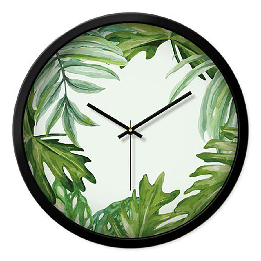 New Plant Living Room Wall Clock Creative Minimalist Large Decorative Wall Clocks Home Decor Best Selling 2019 Products Watch