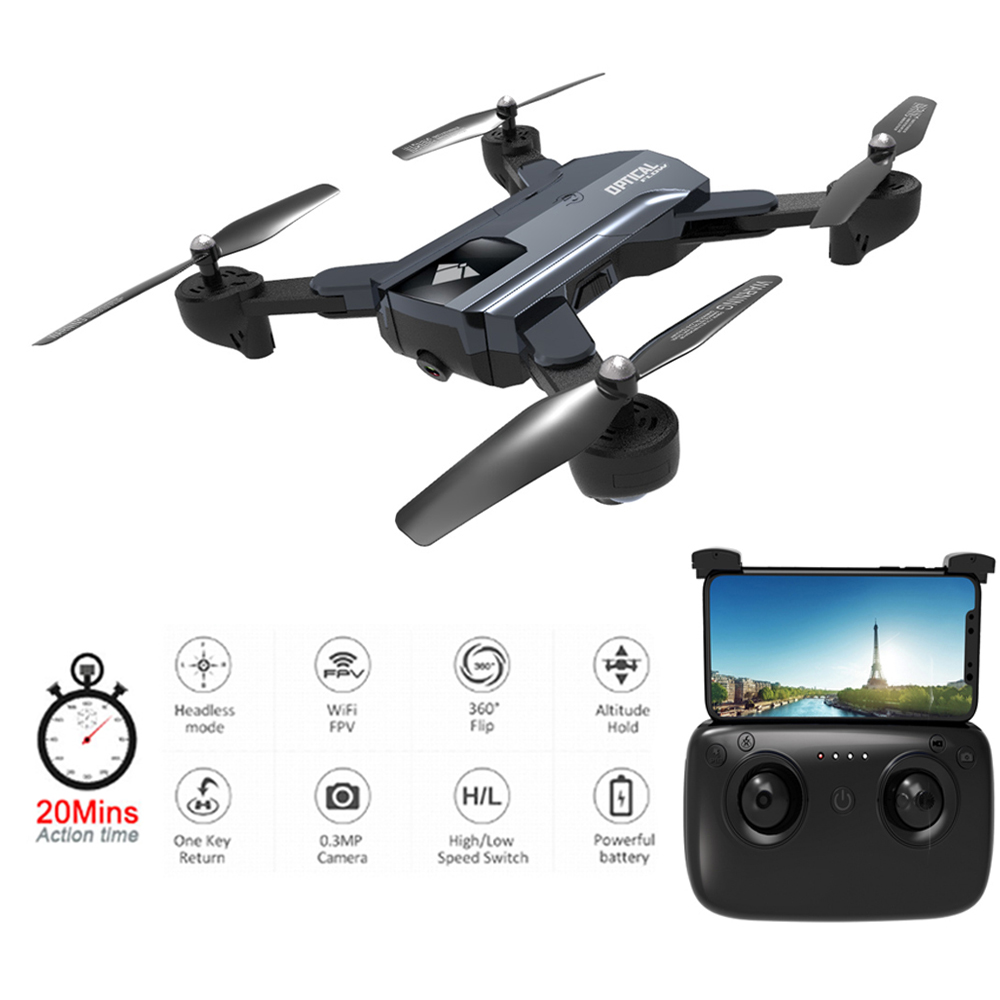<font><b>F196</b></font> Mini Foldable RC Drone with 2MP HD Camera Rc Helicopter Optical Flow Localization 20mins long flight time Quadcopter image