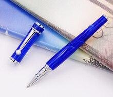 Fuliwen celuloid pióro kulkowe z wkładem, liść klonu czysty niebieski moda pisanie pióro biuro biznes strona główna artykuły szkolne