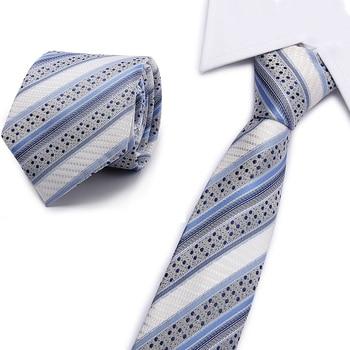 2018 New Brand Designer White Dot Print Red Silk Neck Ties For Men Tie Wedding Neckties 7cm Slim Business Necktie