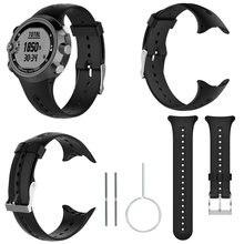 cace0144e12 Banda Pulseira de Relógio De substituição de Silicone Para Garmin Swim  Sports Watch Com Ferramentas Fáceis de Instalar Substitui.