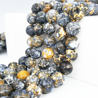 Natural Crystal Hole Ocean Agates Round Shape beads Approx 14mm DIY Jewelry Making Approx 39cm