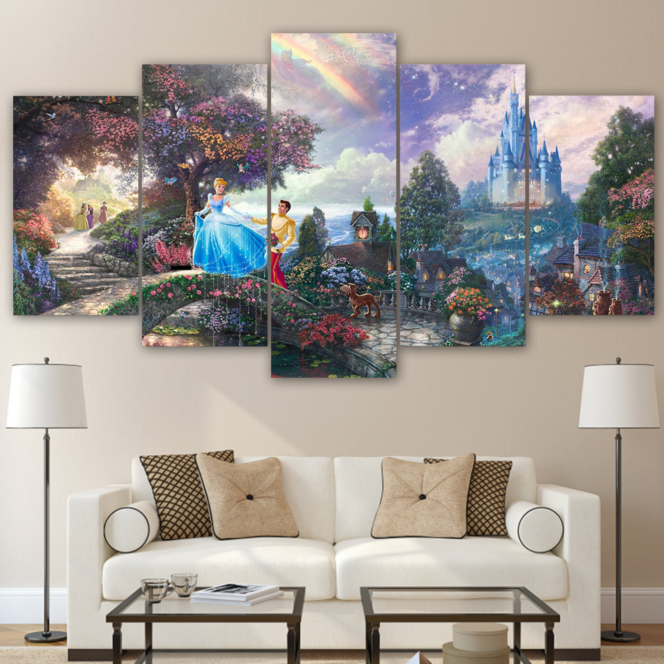Wall Art Paintings For Living Room Popular Cinderella Wall Art Buy Cheap Cinderella Wall Art Lots