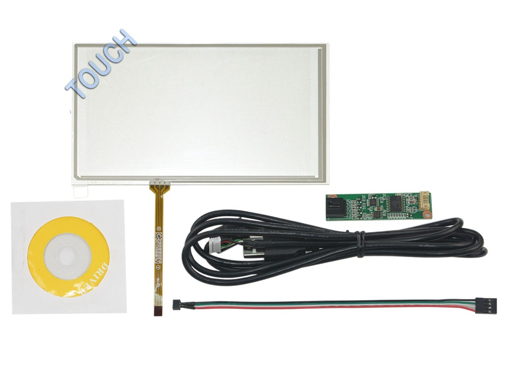 New 6.2 4 Wire Resistive Touch Screen USB Controller Kit for HSD062IDW1 TM062RDH01 Screen touch panel Glass Free shipping sabellino w15103061794