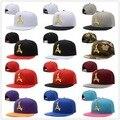 High Quality Adjustable Bone tha Alumni Snapback Caps Gold logo A Hip Hop gorras Hats for men Casquette Baseball Cap LA dad hat