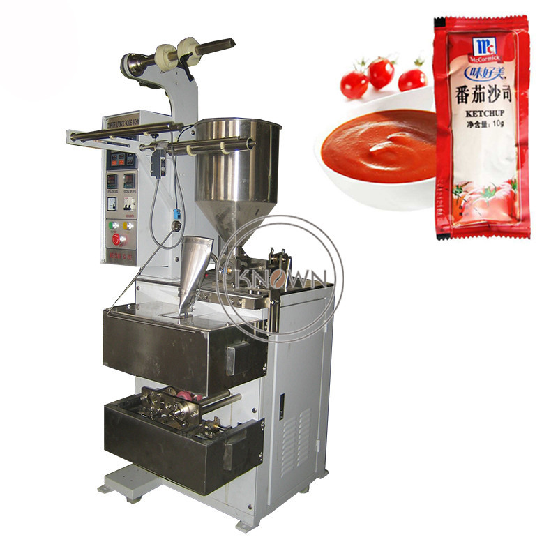 Hot sale three four sides sealing paste packing machine honey pouch packaging machine