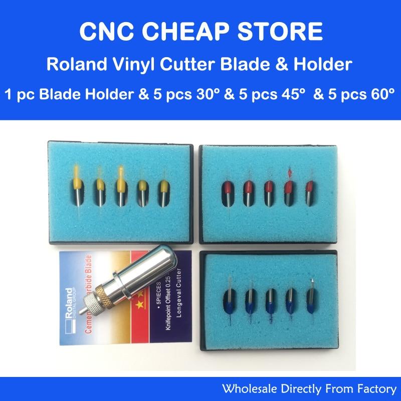 15pcs Roland Cutting Plotter Vinyl Cutter Blade font b Knife b font 30 45 60 Degree